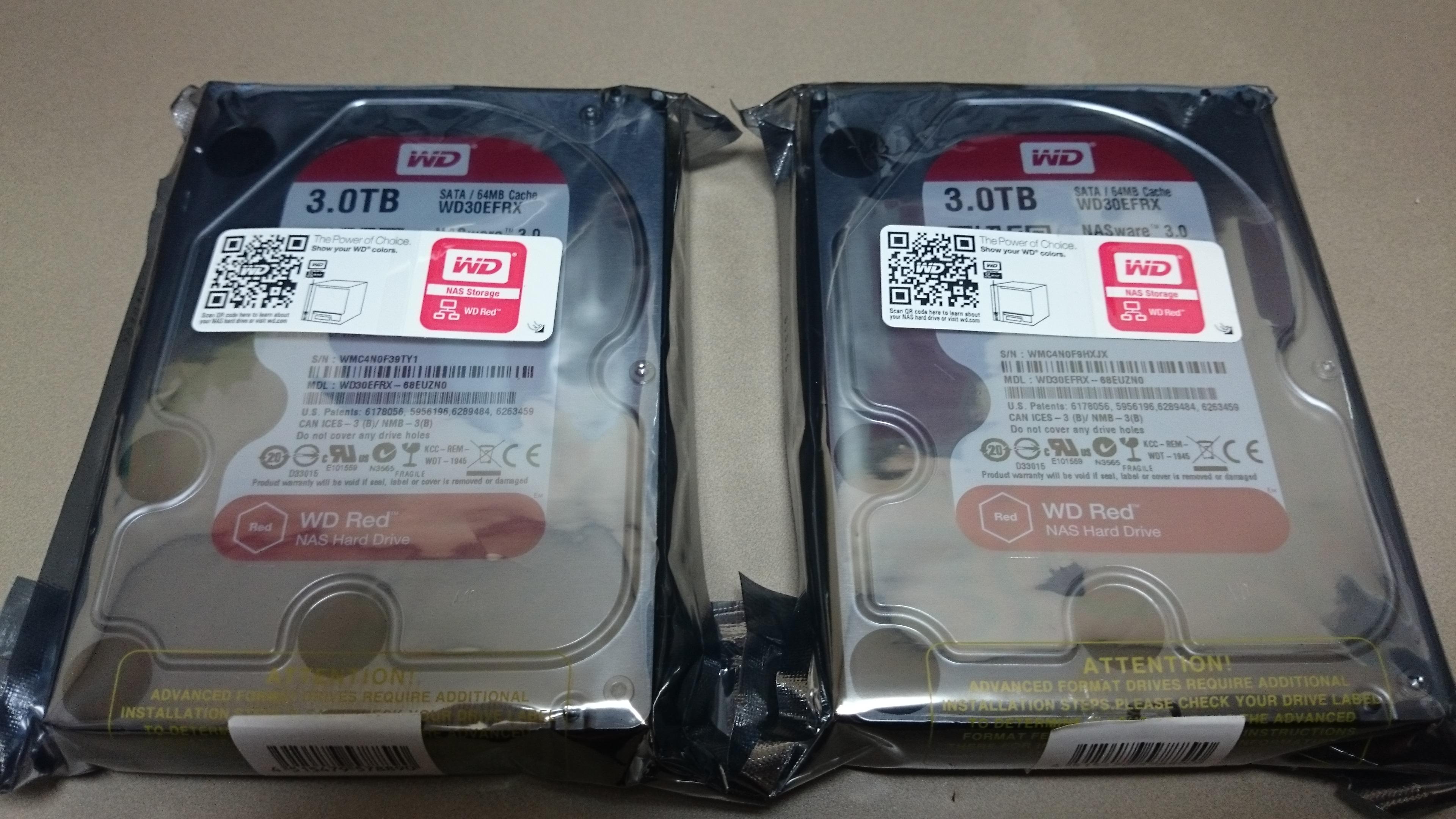 Western Digital WD30EFRX購入
